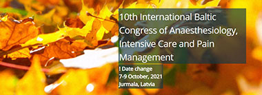 10th International Baltic Congress of Anaesthesiology, Intensive Care and Pain Management